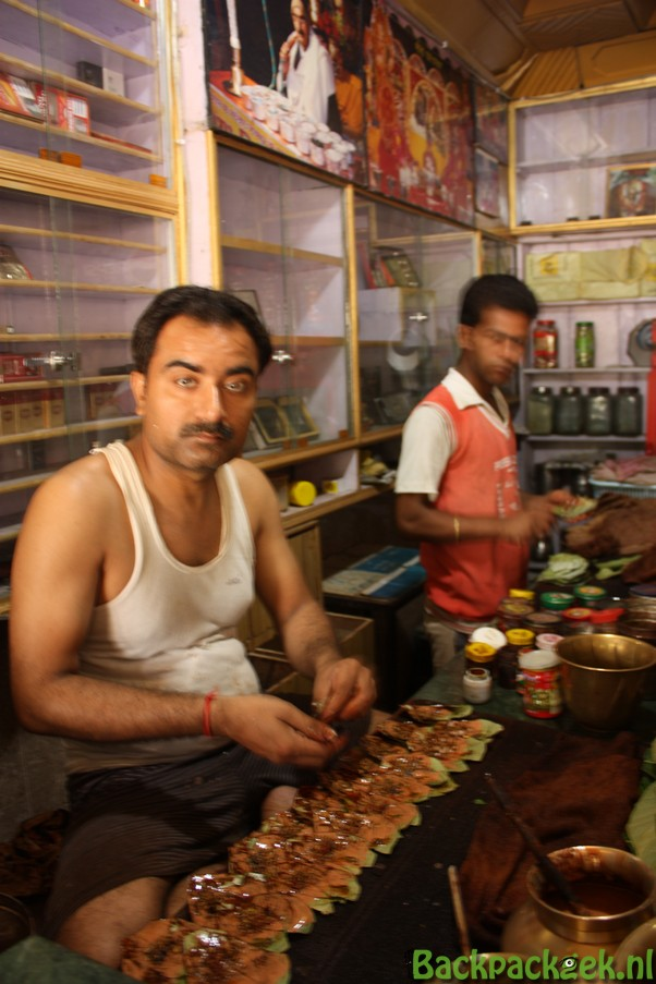 Paan kauwen in India