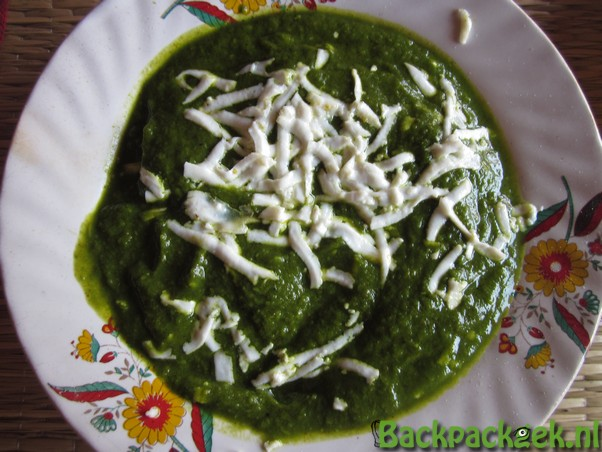 Eten in India - Palak Paneer