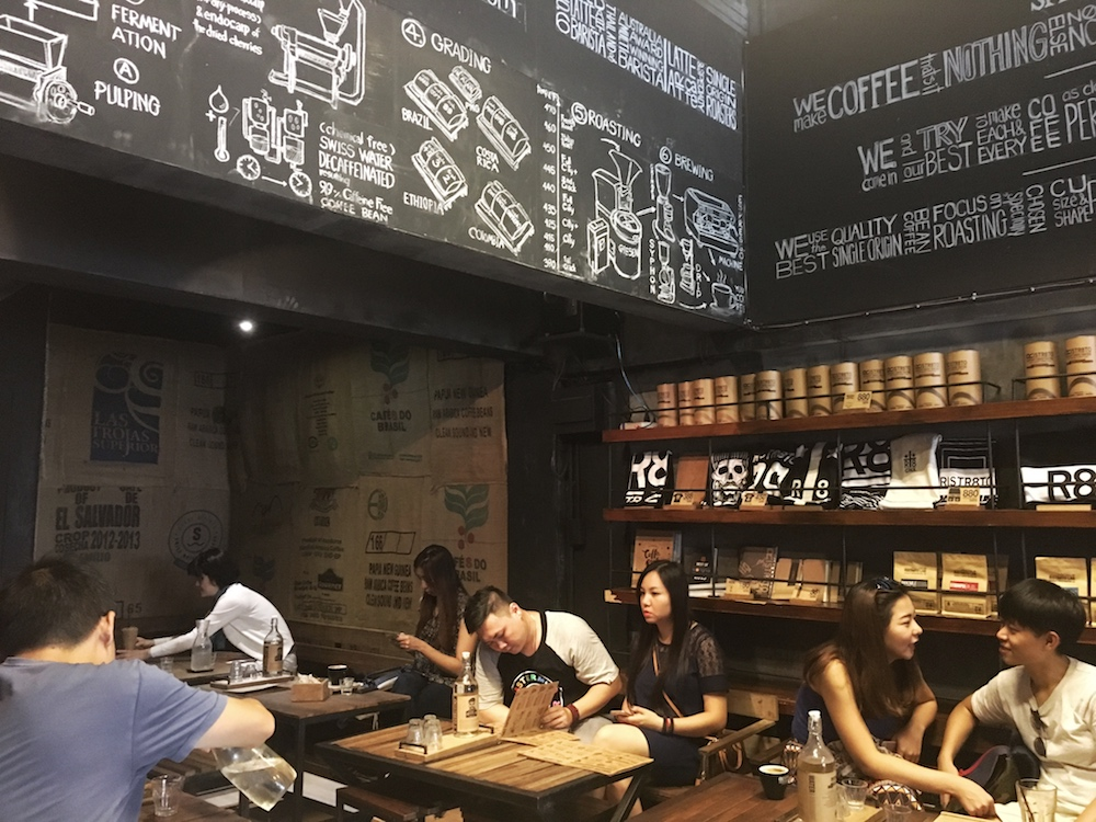 De hippe coffee shop Ristr8to in Chiang Mai