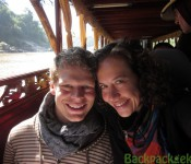 Freek en Claudia in de slowboat