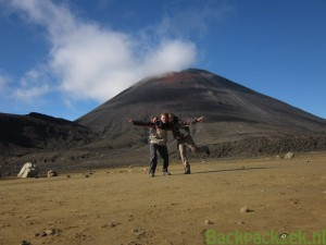 Tongariro - Freek en Claudia Mount Doom