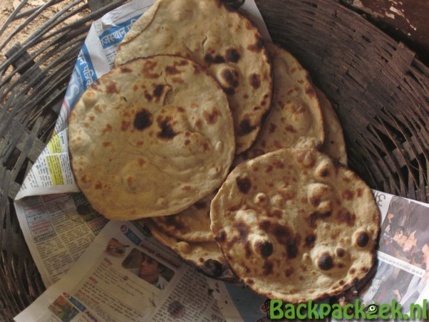 Eten in India - Chapatti