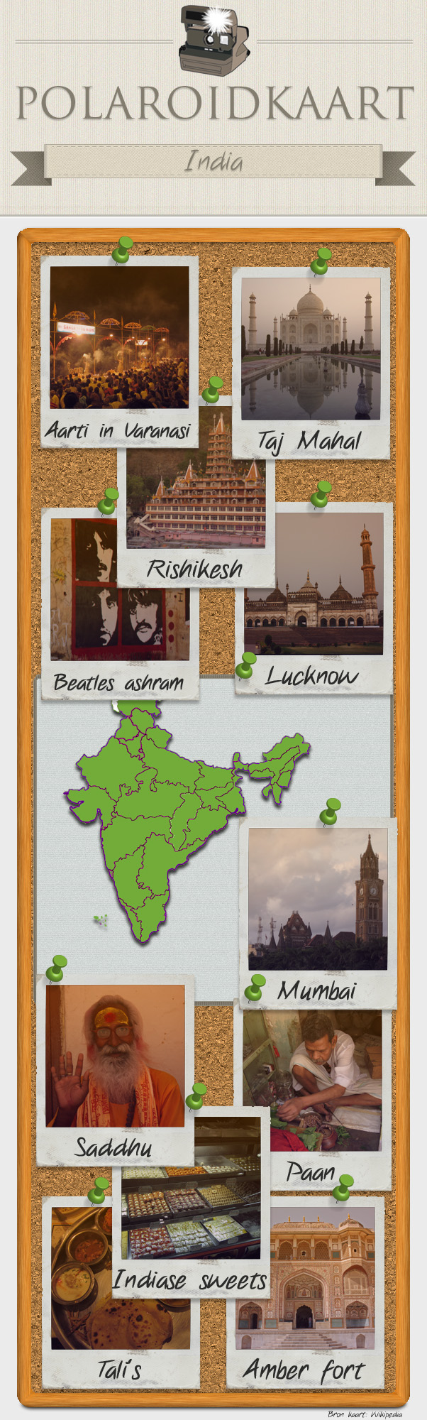 Polaroidkaart India