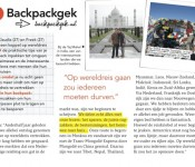 Backpackgek in de Flair